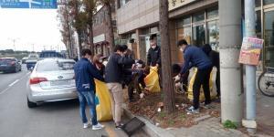 포항시, 도로 침수예방 위한 우수받이 낙엽 대청소 시행